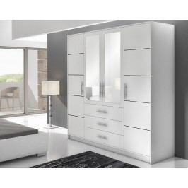 Kvalitní smartshop BALI D4 šatní skříň, bílá plastová