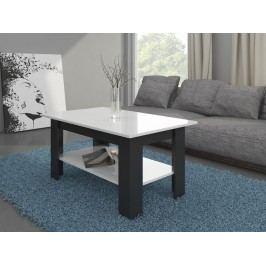 MORAVIA FLAT Konferenční stolek ELAIZA, černá/bílý lesk
