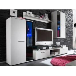 SmartShop Obývací stěna SALSA bílá mat lamino