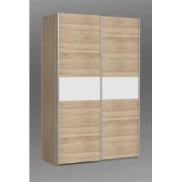 Kvalitní bílá forte OHIO, šatní skříň OHS823E1, dub sonoma/bilá