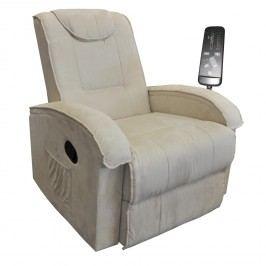 Idea Relaxační křeslo K40-BOBY, béžové kožená polohovací