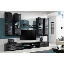 Kvalitní smartshop Obývací stěna BLADE 4, černá/sahara lamino