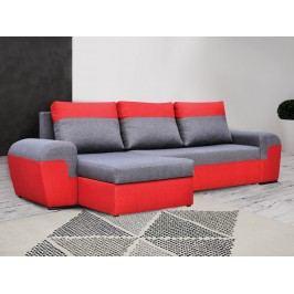 Univerzální smartShop Rohová sedačka MORY KORNER, šedá/červená látková