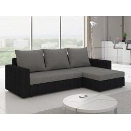 Univerzální ELTAP Rohová sedačka LIVIO 9, šedá látka/černá látka s úložným prostorem