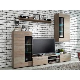 Smartshop Obývací stěna TANGO, dub sonoma lamino