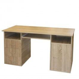 Kvalitní idea Praktický PC stůl se zásuvkami a skříňkou 50194, dub sonoma