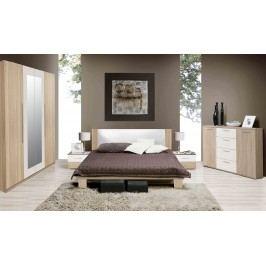 Moderní forte HELEN, ložnice komplet, dub sonoma/bílá