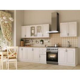 Béžová black Red White Kuchyně NIKA CLASSIC 260 cm, bílá plastová