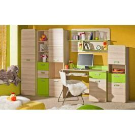 Univerzální fialová MALYS Levný nábytek do dětského pokoje LORENTO 2 jasanová s úložným prostorem