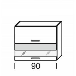 Kvalitní extom KAMDUO, horní skříňka DUO WO2W_9/72,zebrano/hruška