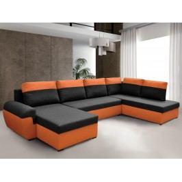 Čalouněná smartshop Rohová sedačka MORY KORNER XL pravá, černá/oranžová DOPRODEJ látková