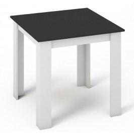 Kvalitní smartshop Jídelní stůl KONGO 80x80 bílá/černá lamino
