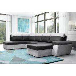 Čalouněná smartshop Rohová sedačka MORY KORNER XL levá, černá/šedá DOPRODEJ látková