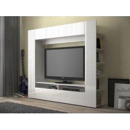MB Domus Obývací monoblok PRIOR - PR 04, bílá/bílý lesk lamino