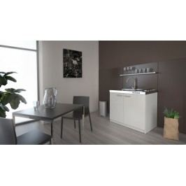 Univerzální MB Domus Minikuchyně SMART 100 cm s vařičem a dřezem, bílá