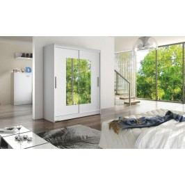 Smartshop WESTA III šatní skříň s posuvnými dveřmi, bílá DOPRODEJ lamino