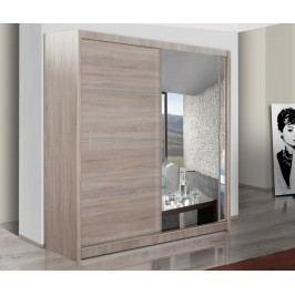 Praktická smartshop Šatní skříň s posuvnými dveřmi VISTA 150, dub sonoma