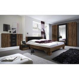 Smartshop VERA ložnice s postelí 180x200, dub monastery/černá lamino