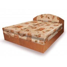 Hnědá smartshop Polohovací čalouněná postel VESNA 180x200 cm, béžová látka dřevěná s úložným prostorem