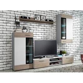 Smartshop Obývací stěna TANGO, bílá/dub sonoma lamino