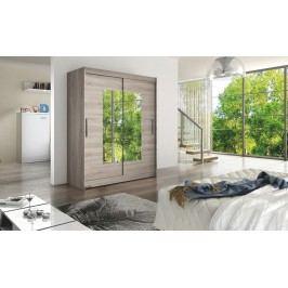 Smartshop WESTA III šatní skříň s posuvnými dveřmi, dub lanýžový DOPRODEJ lamino