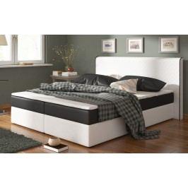 Moderní bílá smartshop Postel s matrací BERGAMO 180x200cm ( PUR - bílá/černá ) látková