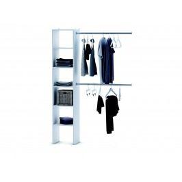 DEMEYERE EKONOMIQUE, regál + 2 šatní tyče 100 cm, bílá lamino