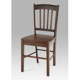 Klasická autronic Jídelní židle celodřevěná AUC-005 WAL, ořech masivní