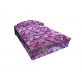 Smartshop Čalouněná postel ÁJA 180x200 cm, fialová látka dřevěná s úložným prostorem