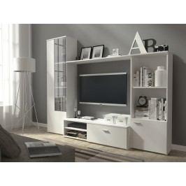 Kvalitní smartshop Obývací stěna HUGO, matná bílá lamino