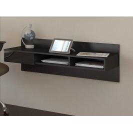 MORAVIA FLAT Designový psací stůl UNO, černá/černý lesk lamino