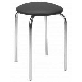 Halmar Stolička židle CHICO, černá ocelová
