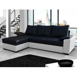 Univerzální ELTAP Rohová sedačka LUSSO 11, černá ekokůže/bílá ekokůže DOPRODEJ s úložným prostorem