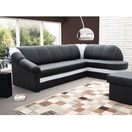 ELTAP Rohová sedačka BENANO B10 pravá, černá ekokůže/bílá ekokůže DOPRODEJ látková s úložným prostorem