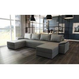 Čalouněná smartshop Rohová sedačka DELLAS U, šedá látka s úložným prostorem