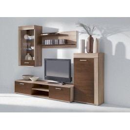 Kvalitní smartshop VITO PLUS, obývací stěna, dub sonoma/dub čokoláda