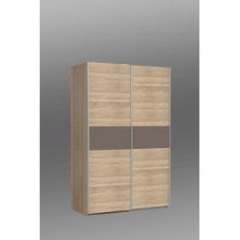 Kvalitní forte OHIO, šatní skříň OHS823E1, dub sonoma/čokoláda