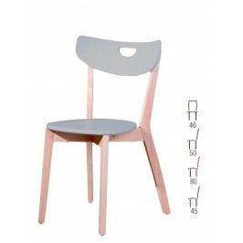 Halmar Židle PEPPI, šedá dřevěná