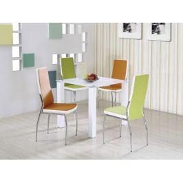 Halmar Jídelní stůl MERLOT čtvercový, bílá DOPRODEJ ocelová