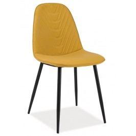 Elegantní černá smartshop Jídelní čalouněná židle TEO A curry ekokůže