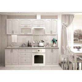 Elegantní bílá smartshop Kuchyně VERONA 180/240, zlatý jasan lamino skládací