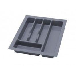 Šedá smartshop Plastový pořadač na příbory do zásuvek SMARTBOX 40 cm