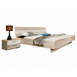 Forte VALERIE, postel VALL18 180x200 cm, dub pískový/bílá