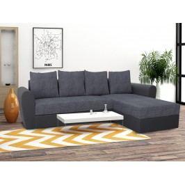 Univerzální smartshop Rohová sedačka FORD 2, šedá látka/šedá ekokůže dřevěná s úložným prostorem