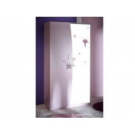 DEMEYERE FEI, skříň 2D se zrcadlem, fialková lamino