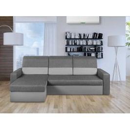 Univerzální smartshop Rohová sedačka CARLO, šedá látka/šedá ekokůže DOPRODEJ