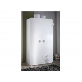 DEMEYERE KITY, skříň 2D, bílá lamino