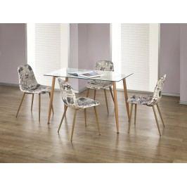 Halmar ULSTER jídelní stůl, olše ocelová