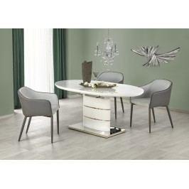 Bílá halmar Jídelní stůl ASPEN 140/180x90 cm, bílý