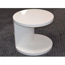 Smartshop AJDA stolek, vysoký bílý lesk OSOBNÍ ODBĚR lamino